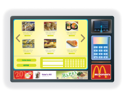 LCD Interactive Touch Screen for Mc.Donald