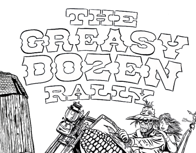 Greasy Dozen Rally graphics