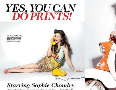 Yes! You Can Do Prints Starring Sophie Choudry