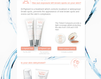 Email / Newsletter Design for Avene