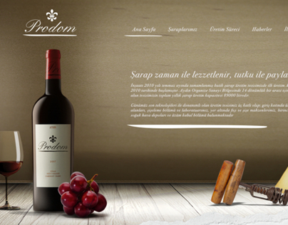 Prodom Wines Website Concept
