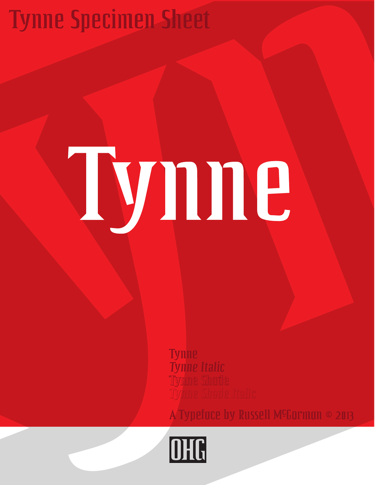 Tynne, a new Typeface from Russell McGorman