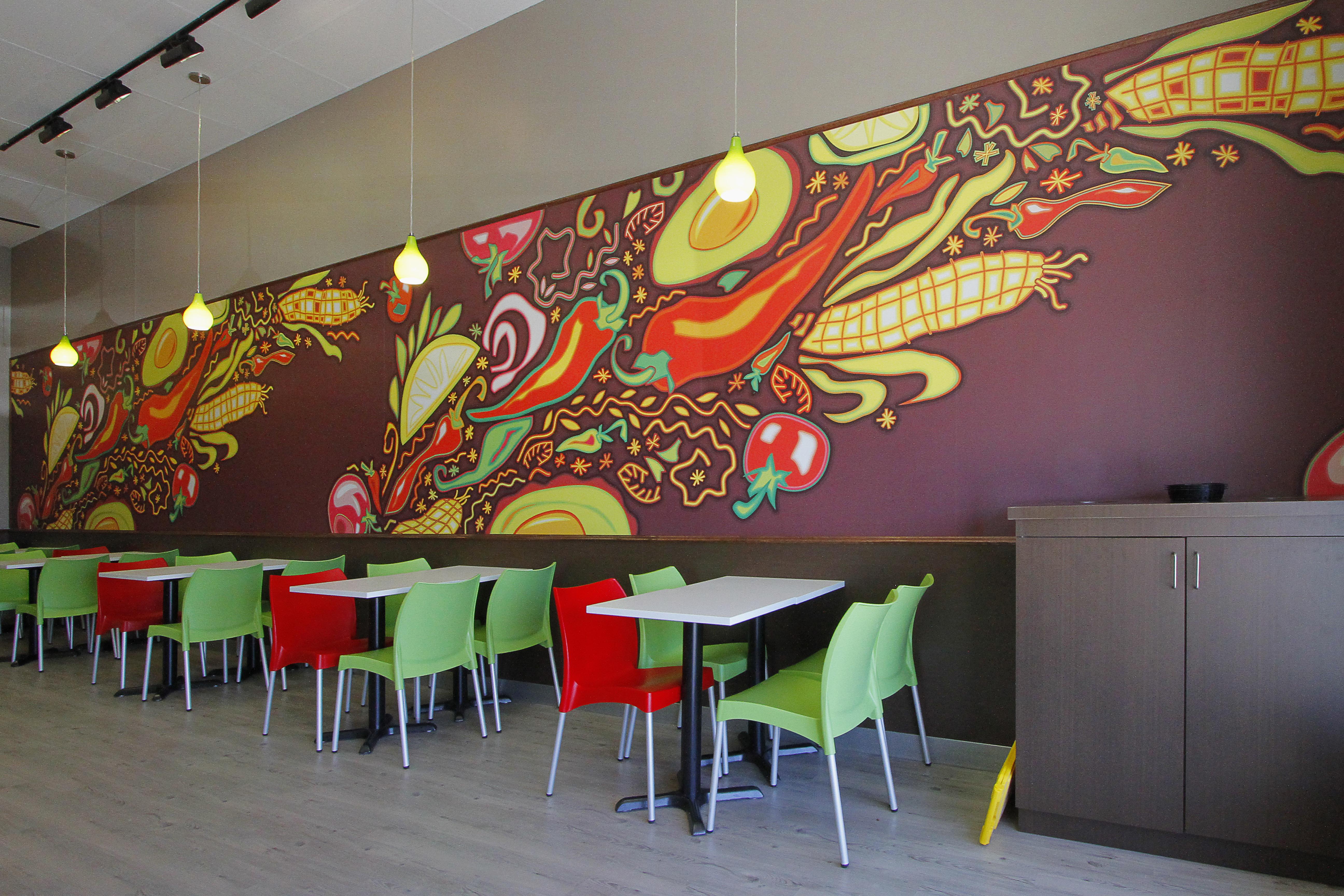 Quesada Mexican Grill Art Mural