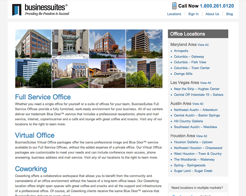 Businessuites.com Website Redesign