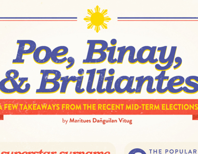 INFOGRAPHIC: Poe, Binay, & Brilliantes