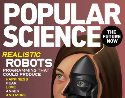 Popular Science Magazine Cover Design