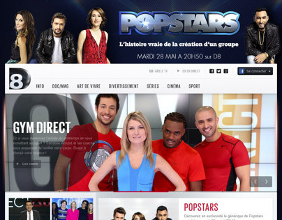 POPSTARS : site web, habillages, ecard