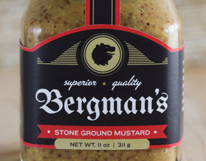 Bergman's Mustard, Package Design