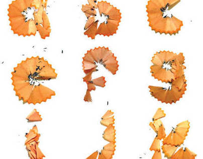 Pencil Shavings Alphabet