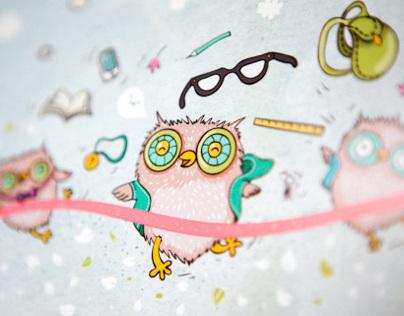 Owls! School certificate of merit