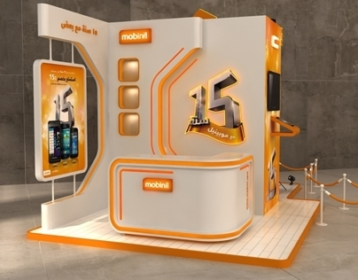 Mobinil 15 years in egypt celebration booth