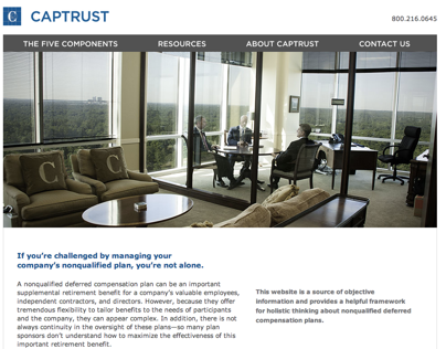 CAPTRUST Nonqualified Site Design