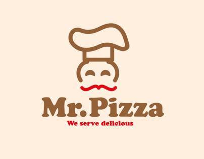 Mr.Pizza Restaurant identity