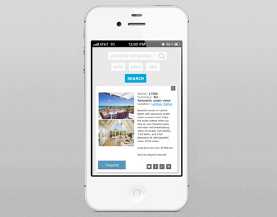Search Home Rentals Responsive Site