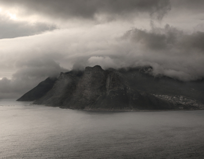 On a misty day in Cape Town