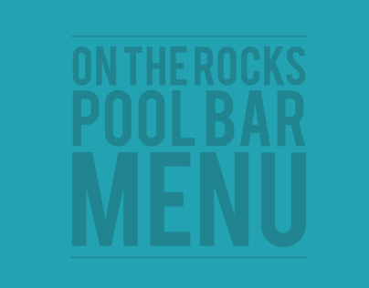 ON THE ROCKS menu