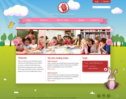 Illustrated web design for schools