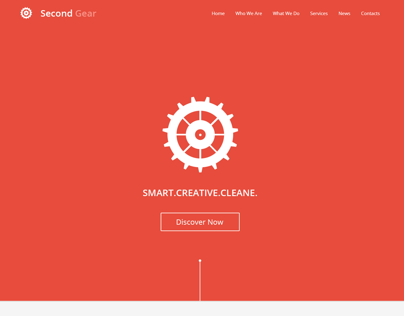 Second Gear - One Page Portfolio PSD Template