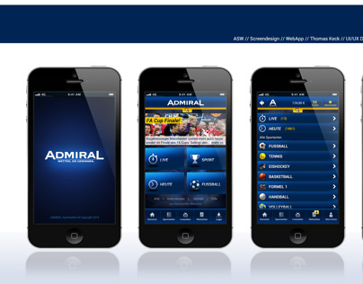 ADMIRAL - betting web app