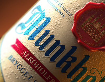 3D Munkholm Beer Bottle - Advertising Imagery
