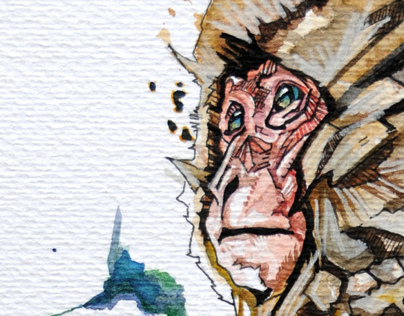 MONKEY II watercolor