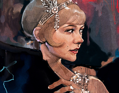 The Great Gatsby illust