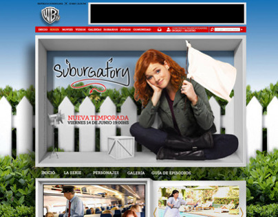MiniSite Suburgatory / Warner Channel TV / Merlin