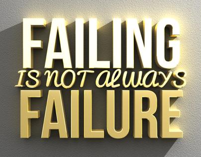 Failure Typography