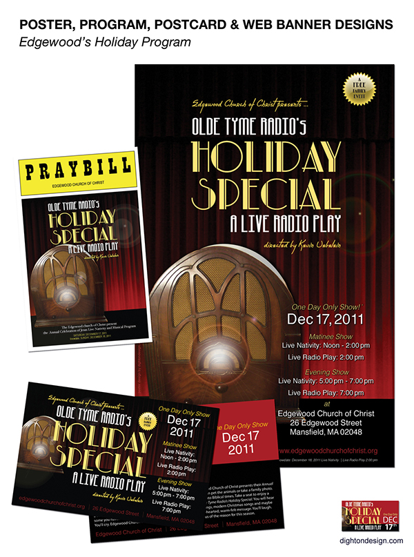 Poster, Postcard, Program Design for Holiday Event