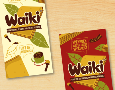 Spekkoek Layer Cake Packaging Design