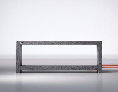 Heated Concrete Bench