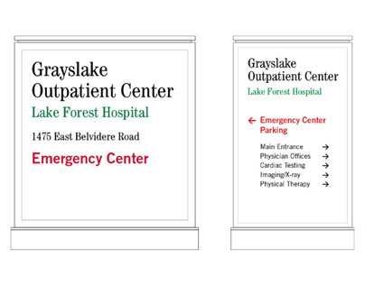 Hospital Entrance Monument Signs