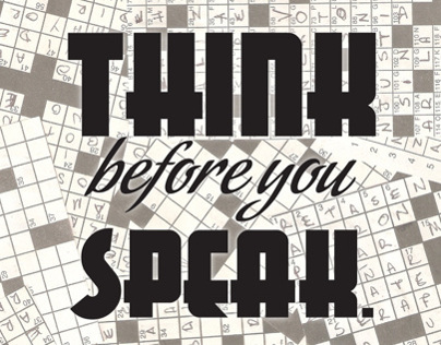 Before you speak...read