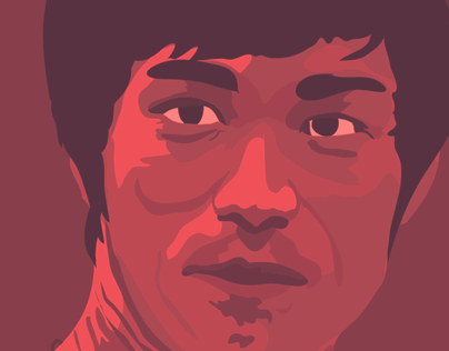 Bruce Lee Illustrated Portrait