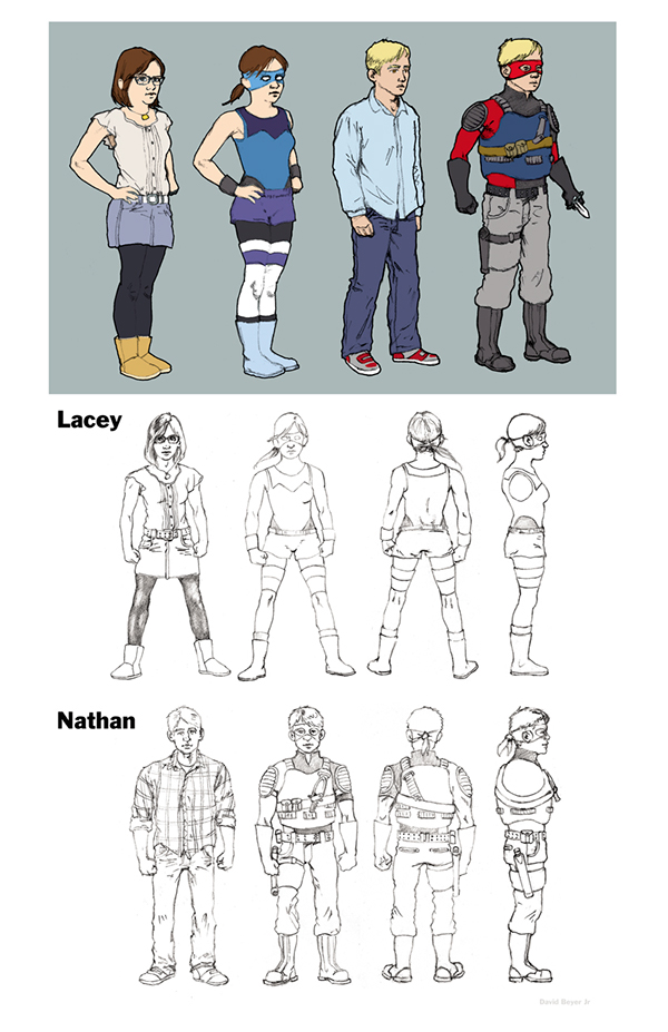 Teen Superhero Character Designs