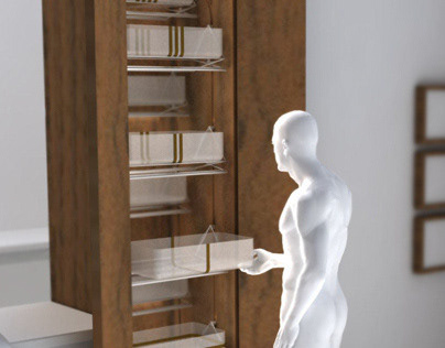 omara Omara / ergonomically redesigned cupboard