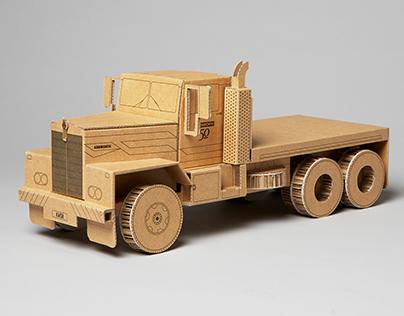 Cardboard Kenworth Truck (50th Anniversary)