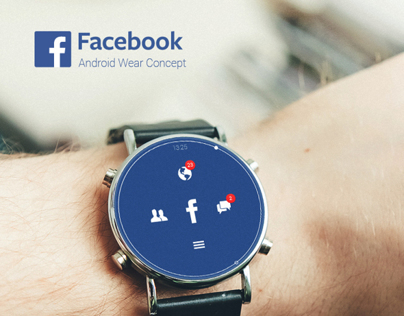 Facebook Android Wear Concept UI
