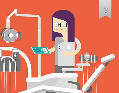 Sustainable development in dental practice Illustration