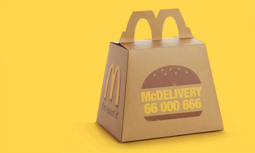 McDonalds Paper Bag Tray Mat
