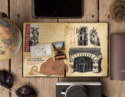 Travel journal, illustration