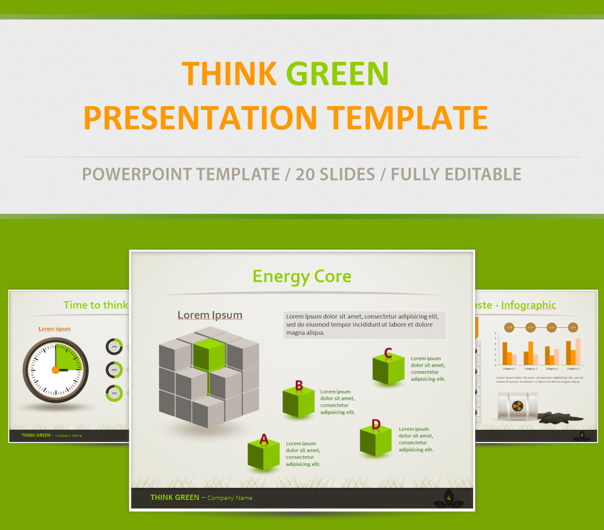 Think Green - Eco Friendly Powerpoint Presentation
