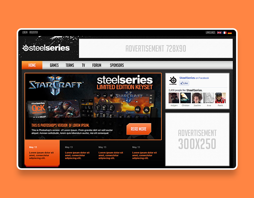 SteelSeries Template