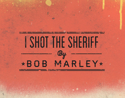 Bob Marley - I Shot The Sherrif Poster