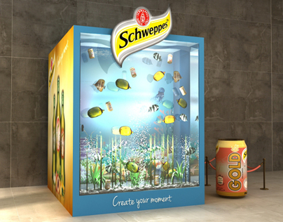 Schweppes gold peach summer lounge