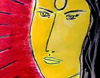 #Abstract art - A women