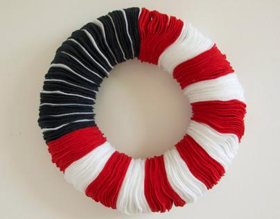 American Flag Felt Wreath