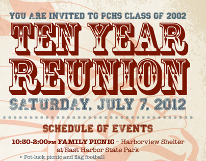 10 Year Class Reunion Invitation