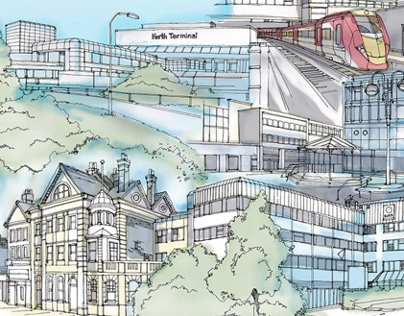 Cover Illustration for Chart Lane