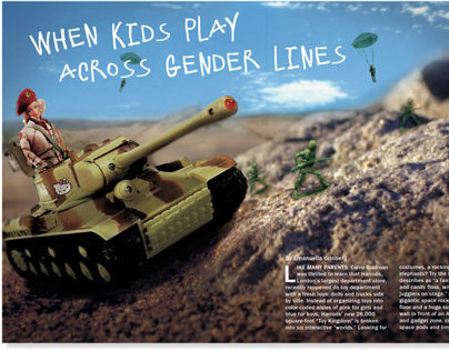 Gender Lines Editorial Layout